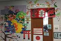 The doorway to the Japanese room